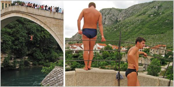 Saltadores del puente de Mostar, Bosnia