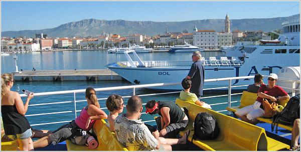 Ferry de Split a Hvar, Croacia