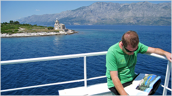 Ferry de Sućuraj a Dvrenik, Croacia