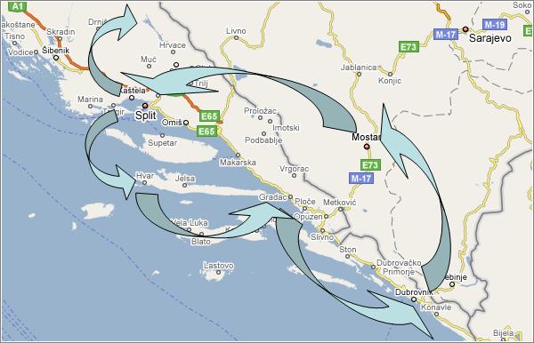 Viaje a Croacia Mapa