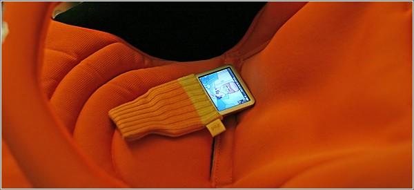 A juego con el calcetín del iPod