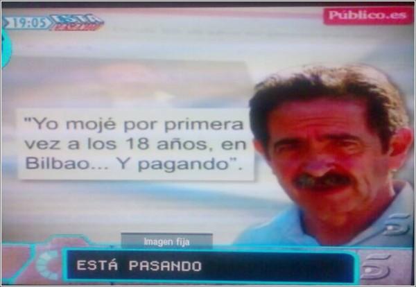Telecinco usa mi foto de Revilla